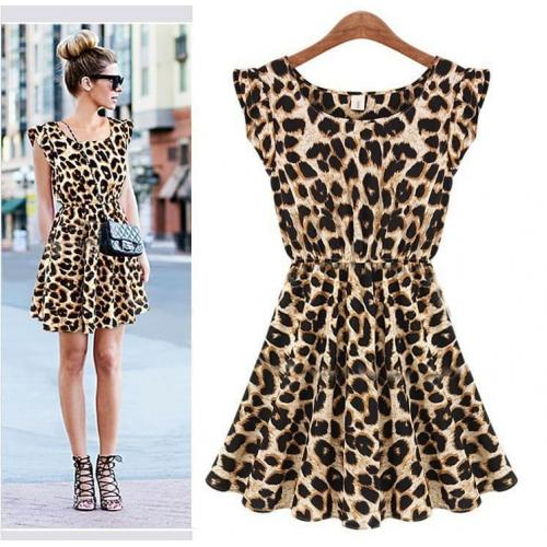Leopard Sexy Cotton Dress