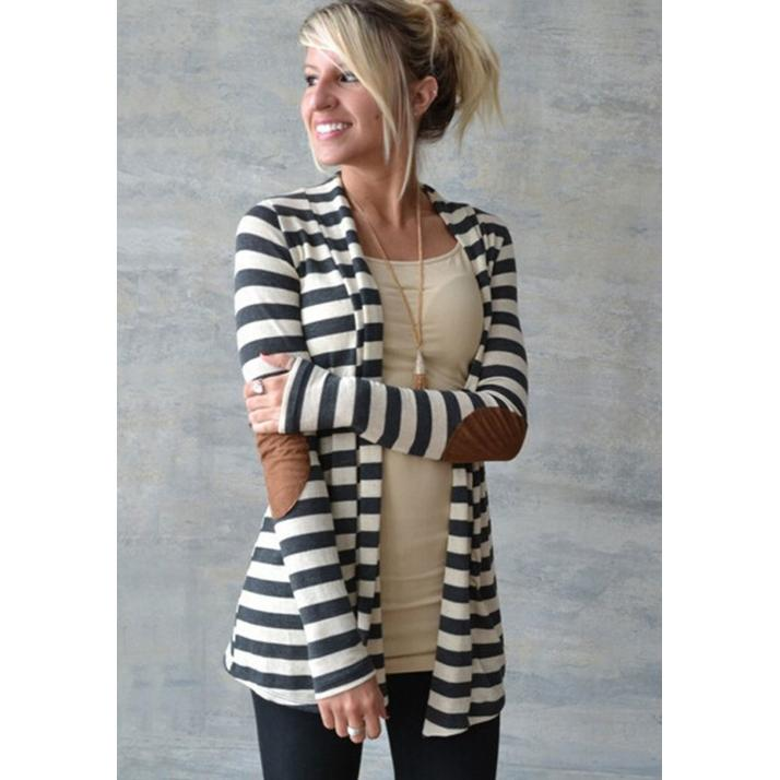 Striped Print Long Sleeve Slim Stylish